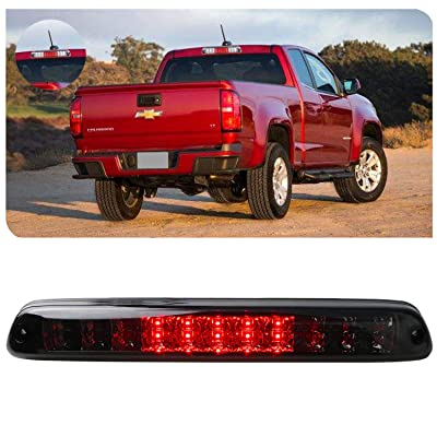 Replacement for 04-12 Chevy Colorado 04-12 GMC Canyon LED High Mount LED 3rd Tail Brake/Cargo Light (Chrome+Smoke): Automotive