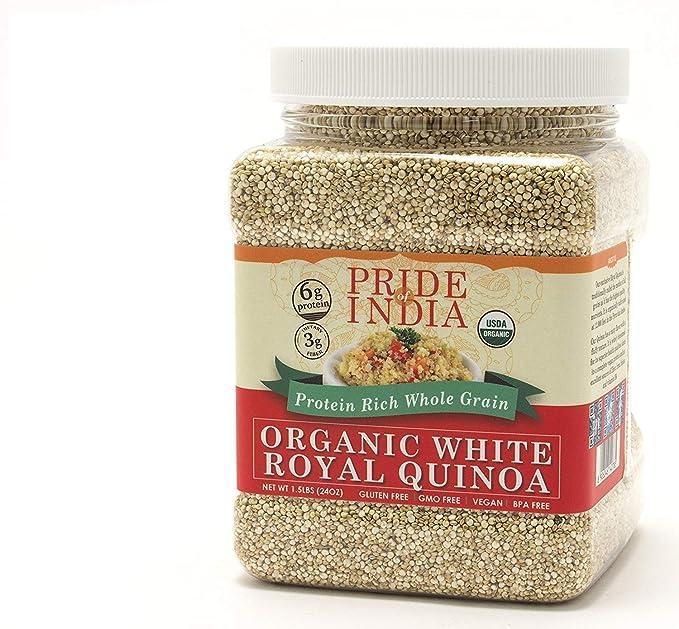 El orgullo de la India - Blanco Quinua Real - 1,5 libras (680 g ...