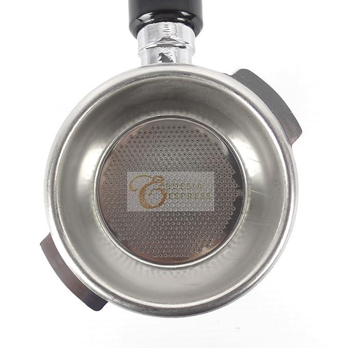Siebträger für BRASILIA BE-Espressomaschinen 14 g Sieb 2 Ausläufe