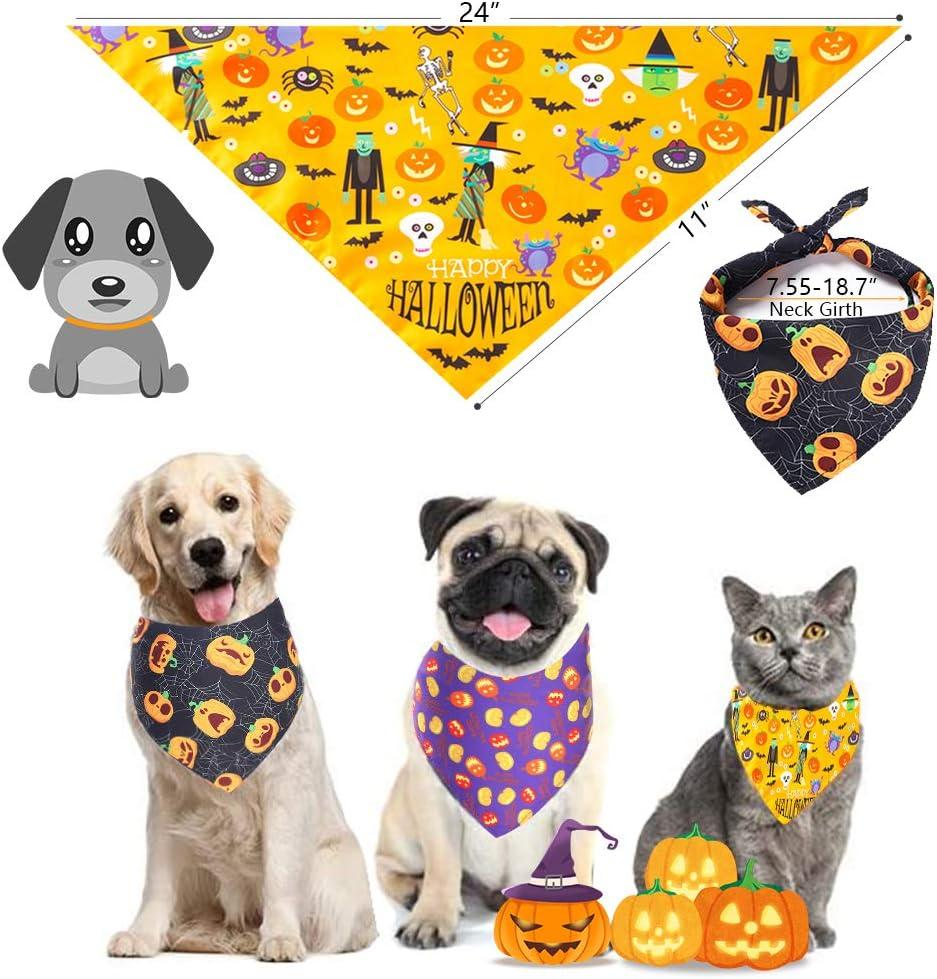 Halloween Bats Dog Bandana Over the Collar Pet Scarf Cat Bandana Custom Dog Neckerchief