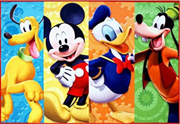 Disney Mickey Mouse Clubhouse Rug HD Digital MMCH Kids Room Decor Bedding  Area Rugs 5x7,