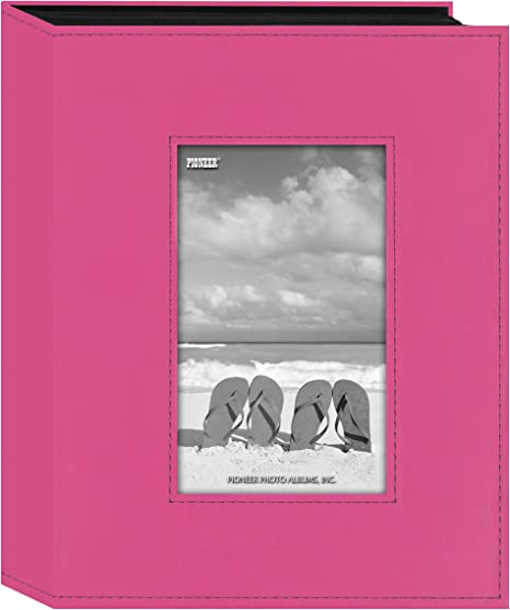 Bright Pink Pioneer Photo Albums 200 Pocket Fabric Frame Cover Photo Album