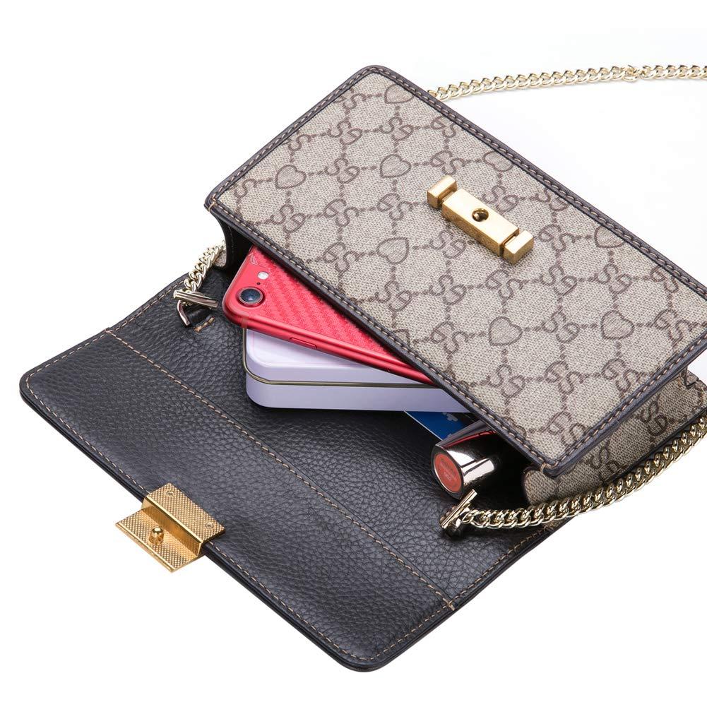 5654d032aea7 LeDuruo Mini Crossbody Bags For Women Leather Small Shoulder Bag ...