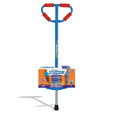 Geospace Large Jumparoo Boing! Pogo Stick by Air Kicks for Riders 90-160 Lbs (Blue): Toys & Games