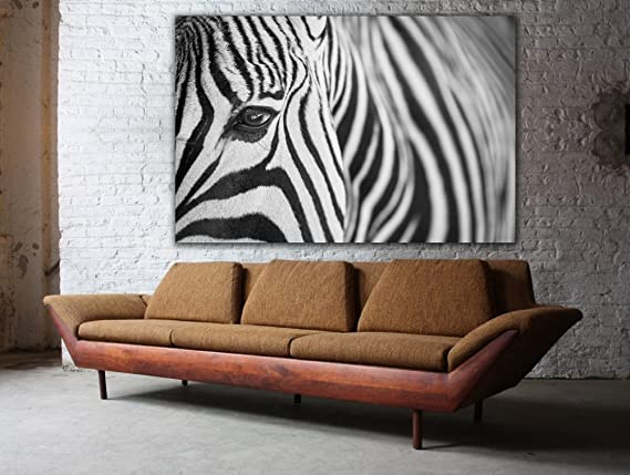 Details about  /ZEBRA HEAD ZOOM PICTURE  PRINT ON FRAMED CANVAS  WALL ART HOME OFFICE DECORATION