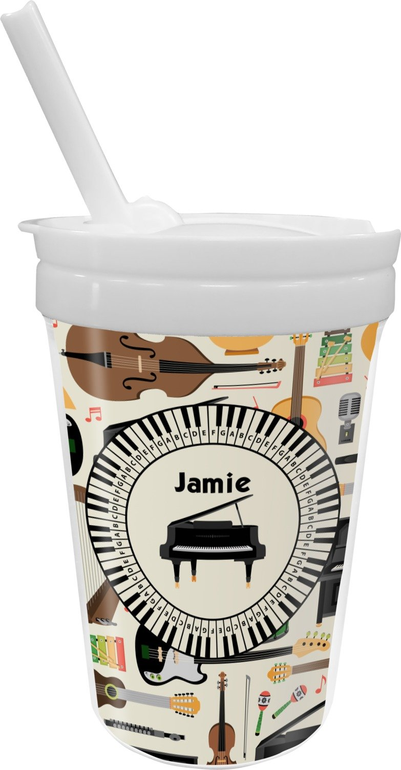 Musical Instruments Sippy Cup with Straw (Personalized)