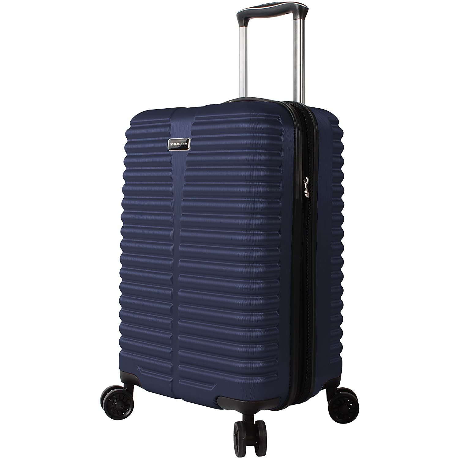 Ciao Carry On 100% PC Lightweight Expandable Luggage with Spinner Wheels (20in, Black)