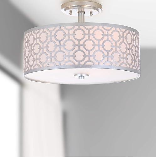 Safavieh Collection Vera Chain-Link 3 15.5″ Flush Mount Light