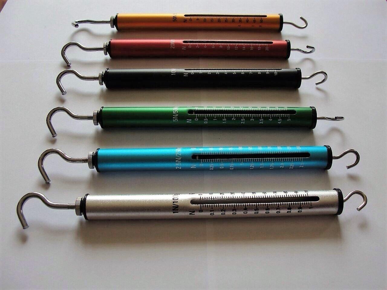Dynamometer Aluminium 7 Set Spring Balance hoch Auflö sung 1 N 2, 5 N 5 N 10 N 20 N 30 N 50 N Yantra