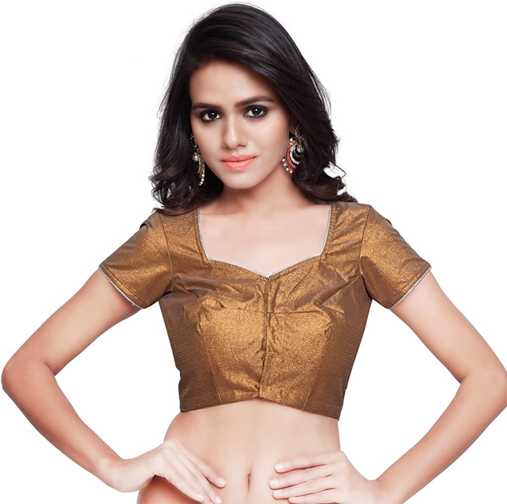 Womens Art Silk Readymade Saree Blouse Choli Mirchi Fashion Top