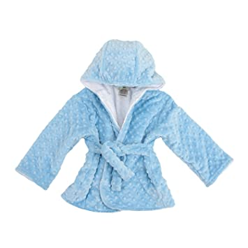 Amazon.com   My Blankee Hooded Minky Dot Bath Robe 9b63f2662
