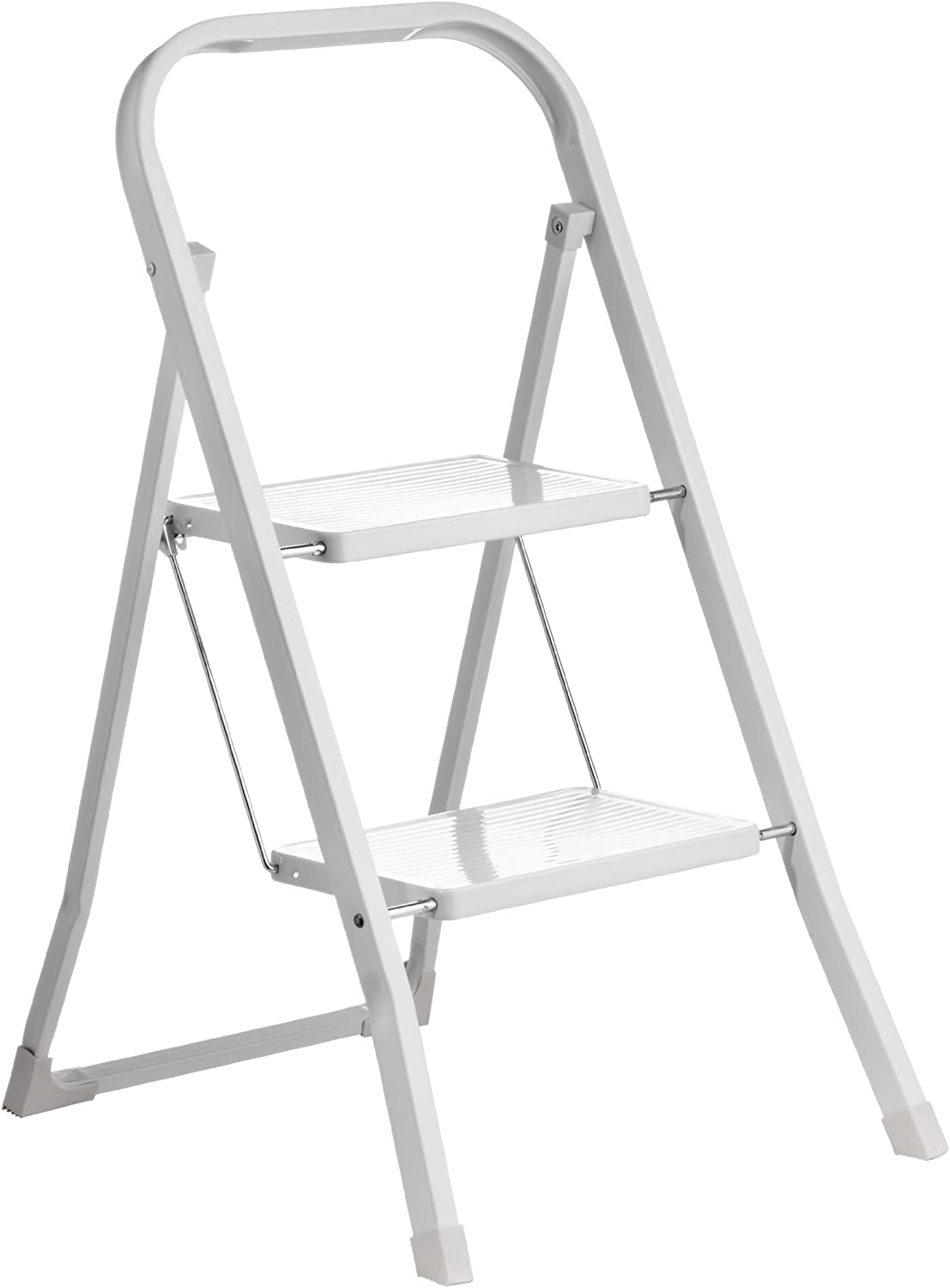 Premier Housewares - Escalera Plegable de 2 escalones (89 x 42 x 54 cm), Color Blanco: Amazon.es: Hogar
