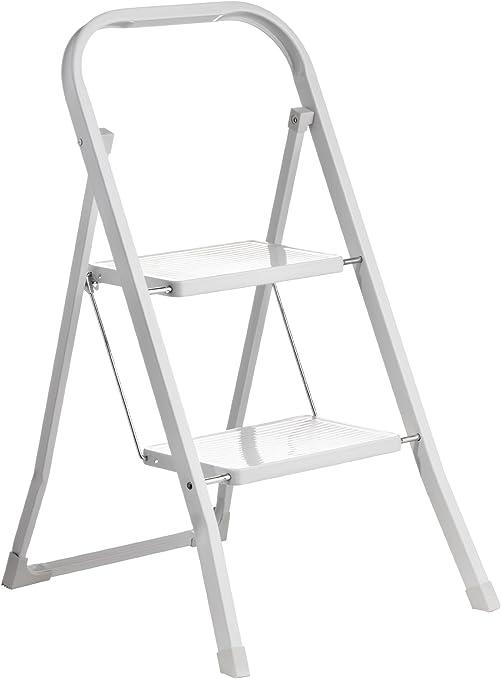 Premier Housewares - Escalera Plegable de 2 escalones (89 x 42 x 54 cm), Color Blanco: Amazon.es: Hogar