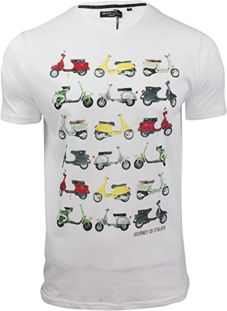 Brave Soul - Camiseta - Manga Corta - para Hombre Blanco Blanco ...