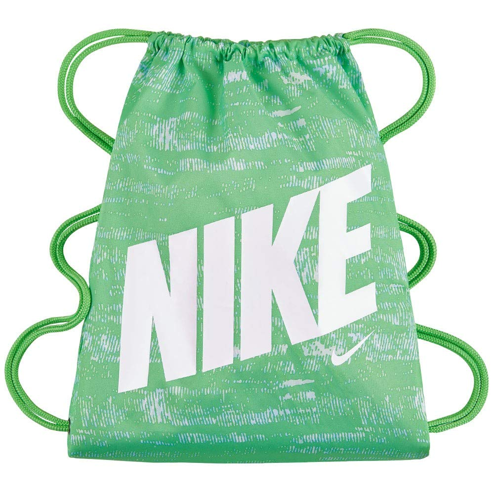 3e1c6b77f Amazon.com : Nike New Young Athletes Graphic Gymsack (One Size, Tourmaline  (351) / White/Tourmaline) : Sports & Outdoors