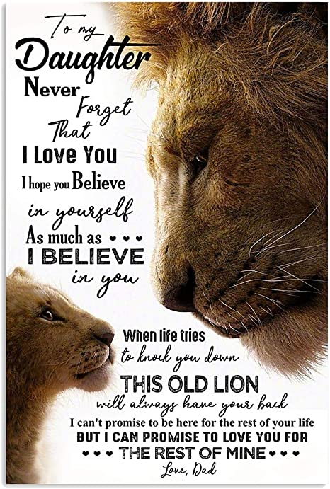 no frame Never Forget Who You are Movie Poster Quote Home Art Wall funny Lion