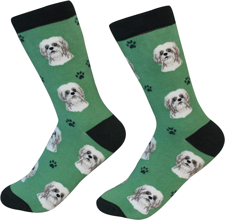 Tan Shih Tzu Dog Breed Socks Unisex Sock Daddy by E&S Pets