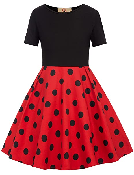 b9465a9c8 Kids 1950s Clothing & Costumes: Girls, Boys, Toddlers GRACE KARIN Girls  Polka Dots