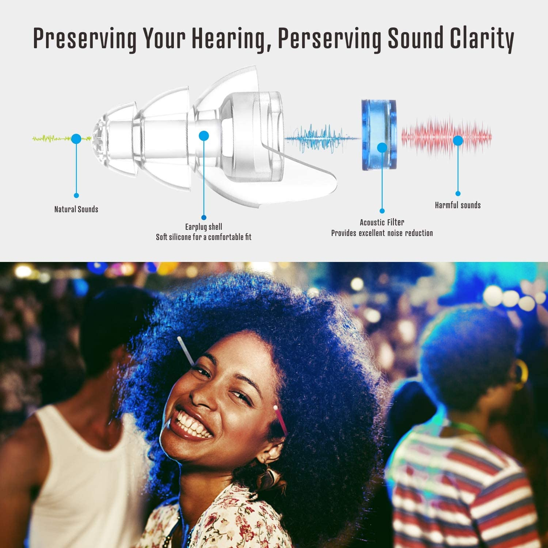 20DB de bruit Bouchons d/'oreille concerts musiciens Travel Motor Hearing protection