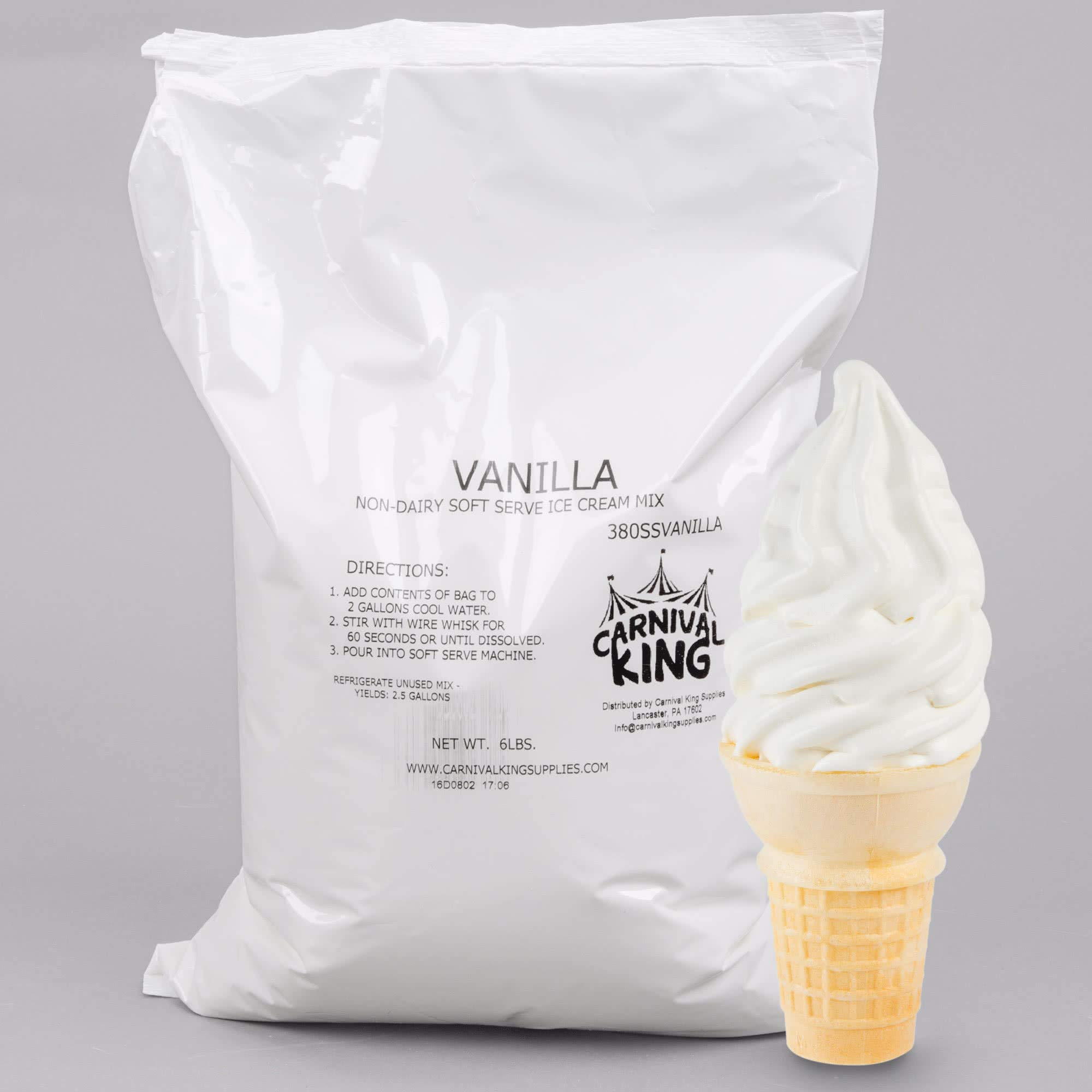 TableTop King 6 lb. Non-Dairy Vanilla Soft Serve Ice Cream Mix - 6/Case