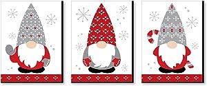 Big Dot of Happiness Christmas Gnomes - Holiday Wall Art Room Decor - 7.5 x 10 inches - Set of 3 Prints