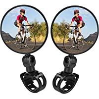 Pedalton 2Pcs 360°Rotate Bike Bicycle Cycling Rear View Mirror Handlebar Safety Rearview