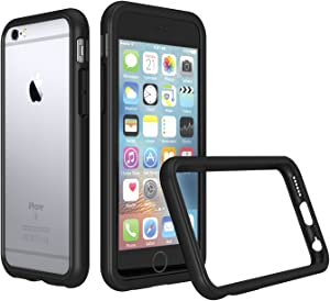 RhinoShield Bumper Case Compatible with [iPhone 6 Plus/iPhone 6s Plus] | CrashGuard - Shock Absorbent Slim Design Protective Cover [3.5 M / 11ft Drop Protection] - Black