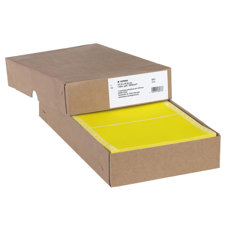 wei/ß endlos HERMA 8229 Computeretiketten selbstklebend 50,8 x 23,0 mm, Papier, matt, 2-bahnig 12.000 Etiketten permanent haftende Endlosetiketten