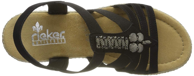 Rieker Damen 66506-00 Geschlossene Sandalen