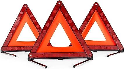 AAGOOD Tri/ángulo de Advertencia tri/ángulo de Seguridad Triple Atenci/ón Hazard Reflector Carretera Se/ñal S/ímbolo del tri/ángulo de Accesorios de autom/óviles de Emergencia