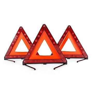21abb9cae Amazon.es: DEDC Kit de 3 Triángulo de Emergencia Coche Triángulo  Reflectante con Estuche de Plástico y Bolsa de Almacenamiento Señalización  Advertencia ...