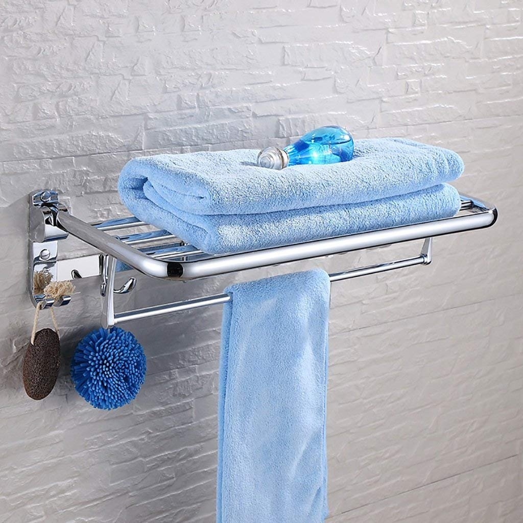 on sale EQEQ Bath Rooms Shelf Stainless Steel Towel Rack Folding ...