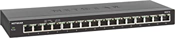 NetGear GS316 16-Port Gigabit Ethernet Desktop Unmanaged Switch