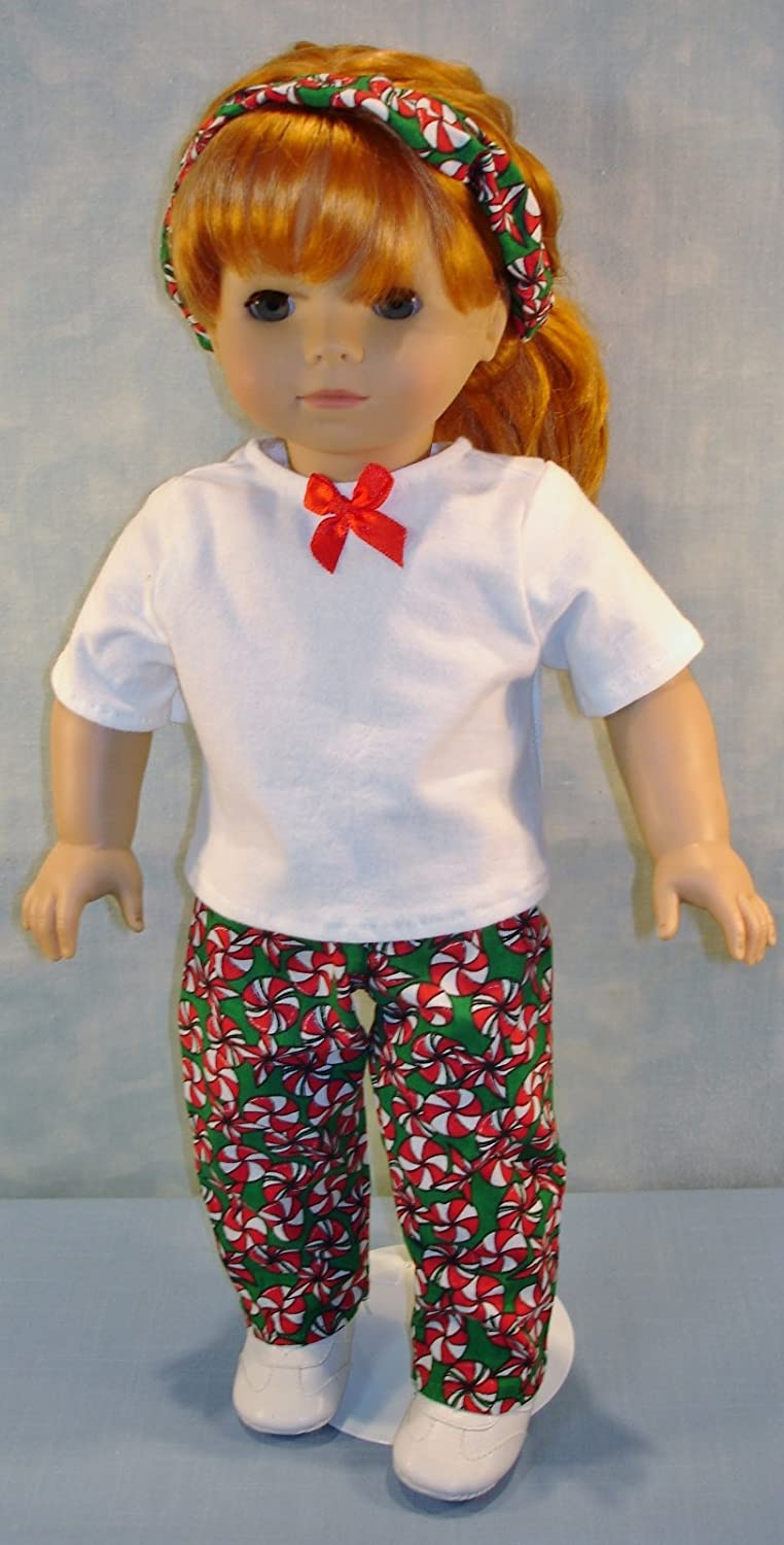 18 Inch Doll Clothes Christmas Starlight Mints Pantsuit handmade by Jane Ellen for 18 inch dolls