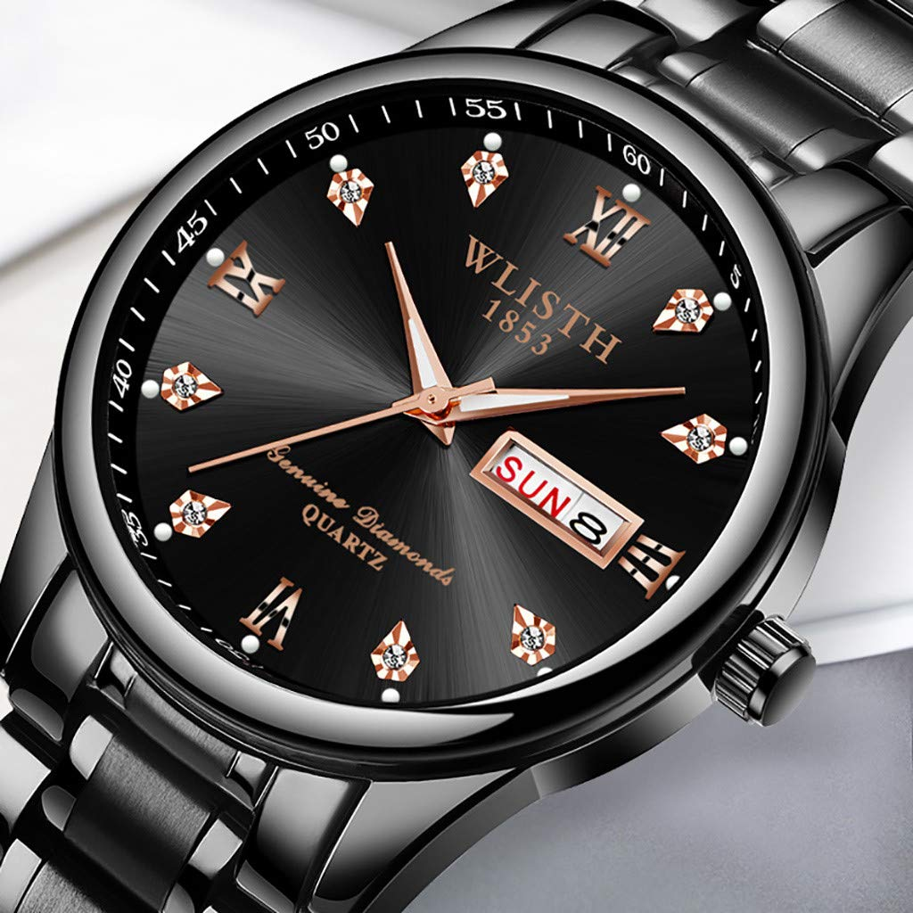 Amazon.com: Business Watches for Men DYTA Analog Quartz Watch with Stainless Steel Band Cases Under 55 Casual Wrist Watches Luxury Watches on Relojes De ...