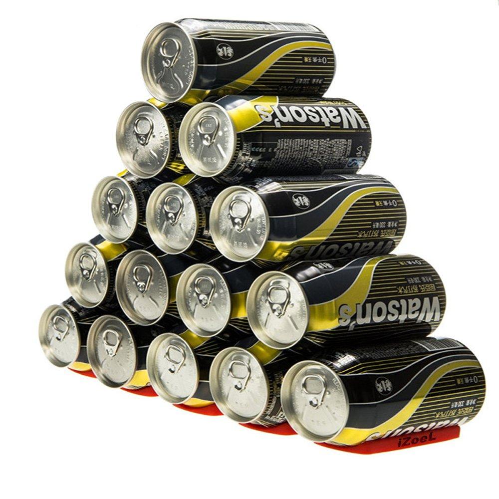 iZoeL Estante Para Botellas Portabotellas Silicona Plataforma de nevera para apilado de botellas; soporta hasta 15 botellas; Perfecto para el refrigerador ...