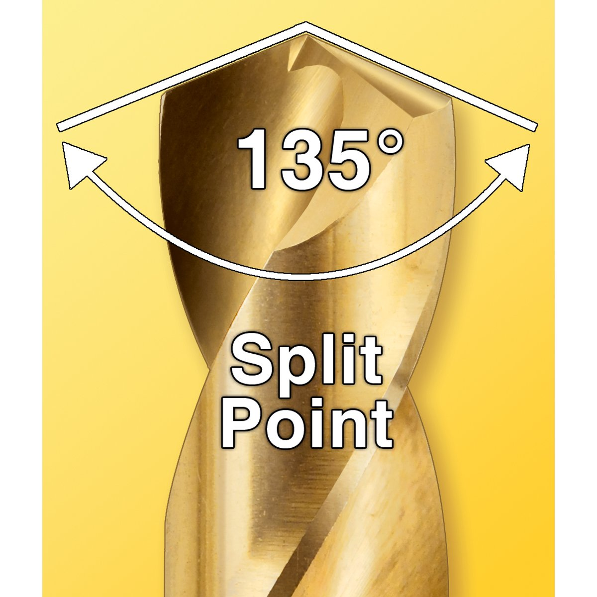 135-Degree Split Point 1//Card IVY Classic 04109 9//64-Inch Cobalt Steel Drill Bit