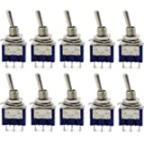 Aussel 10 pezzi AC 125V 6A ON-ON 3 Pin 2 Position Mini Toggle Switch per Arduino