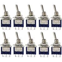 Aussel 10 piezas AC 125V 6A ON-ON 3