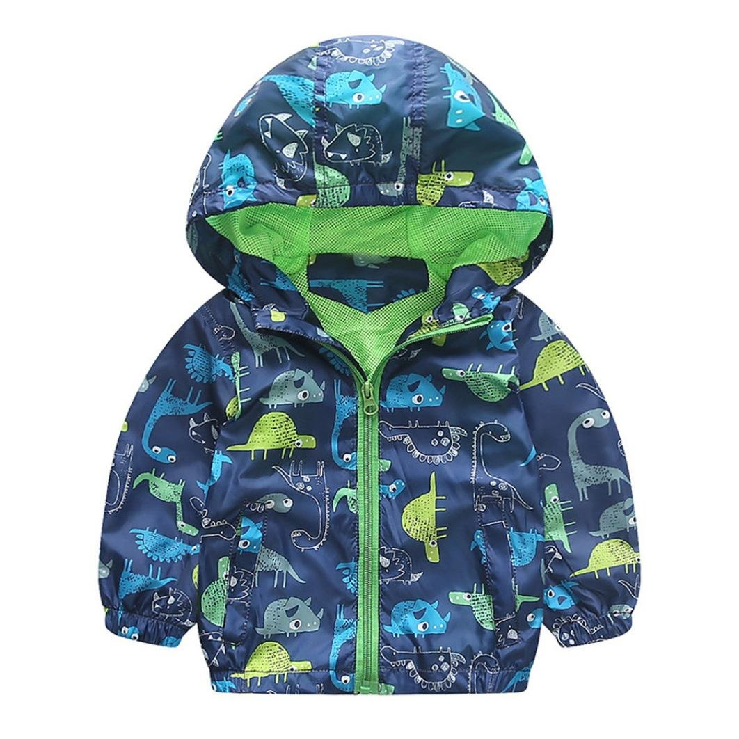 KONFA Baby Boys Girls Geometry/Dinosaur Print Hooded Jacket Coat, Suitable for 1-3 Years old, Winter Warm Thick Cloak Tops Konfa_Coat