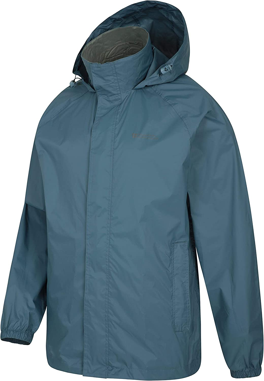 Mountain Warehouse Pakka Mens Waterproof Rain Jacket Packable
