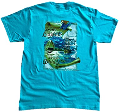 aab68c2b Good Life Mens 100% Cotton T-Shirt Short Sleeve Hawaiian Beach Scenery  (Small