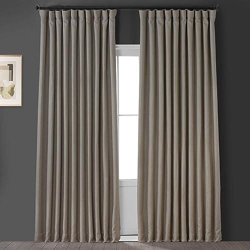 HPD Half Price Drapes BOCH-LN1857-120-DW Faux Linen Extra Wide Blackout Room Darkening Curtain 1 Panel