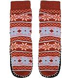 Basico Women Knitted Home Slipper Socks with NON Slip Bottom