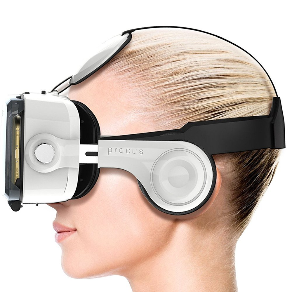 Procus PRO (White) VR Headset - 100-120 Degree FOV with High