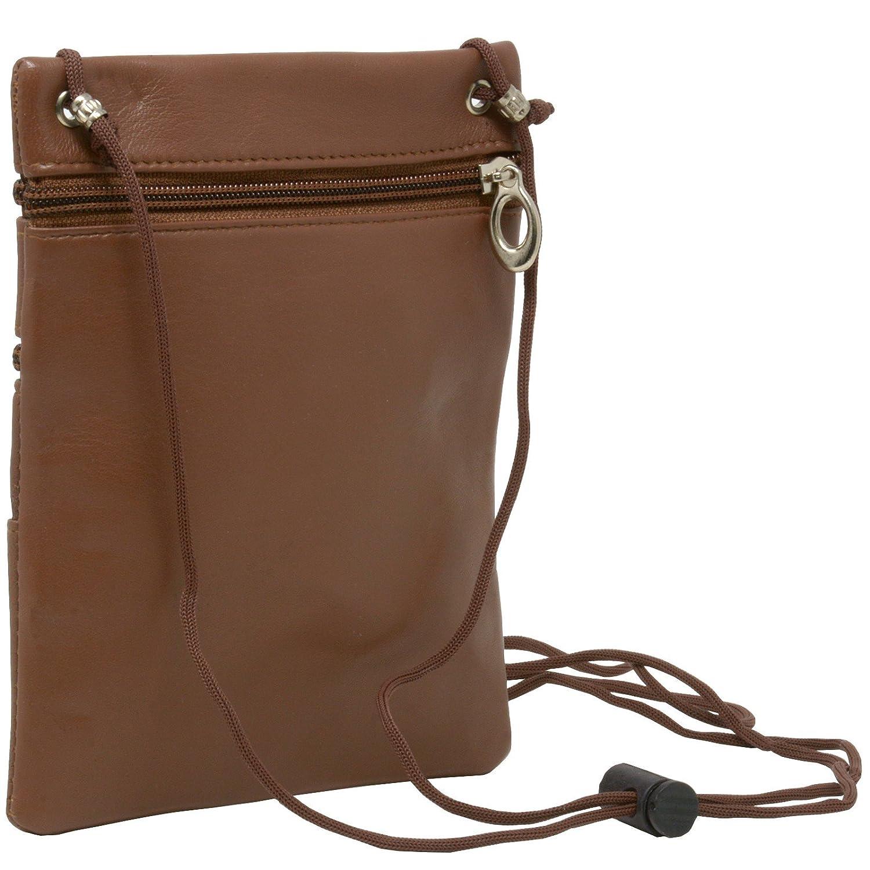 84dc0151dde5 Soft Leather Purse Organizer Shoulder Bag 4 Pocket Micro Handbag Travel  Wallet