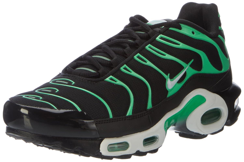 Nike Air MAX Plus, Entrenadores para Hombre 41 EU|Negro (Black/White/Electro Green)