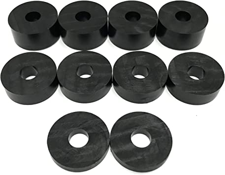 2 x 5mm 4 x 15mm 10 pack Nylon Spacers Standoff Washers 10mm M10 4 x 10mm