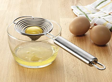 Amazon.com: Acero inoxidable separador de huevo: Kitchen ...