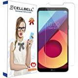 CELLBELL®Tempered Glass Screen Protector for LG Q6 with Free Installation Kit